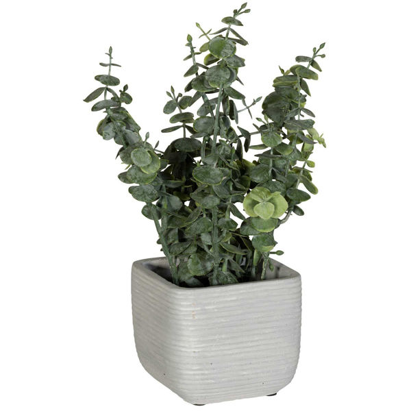 Picture of Leaves In Square White Vase