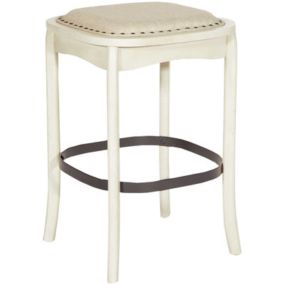"Picture of Senna 26"" Antique White Barstool"