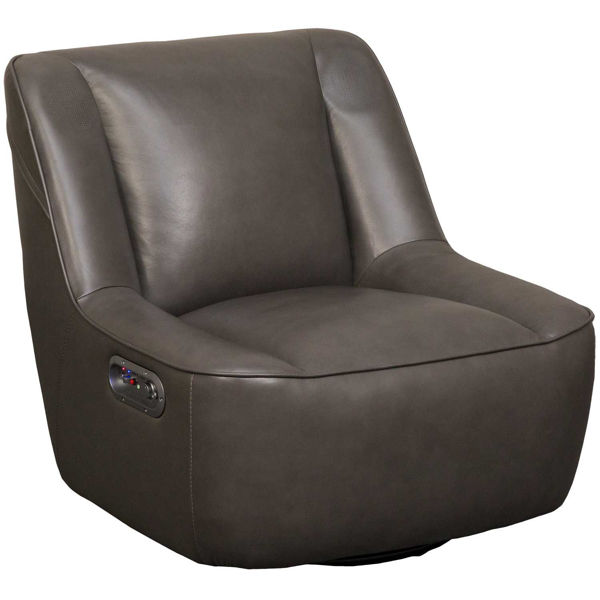 Picture of Gray Leather Status Media Chair