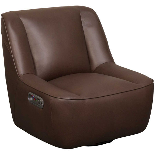 Picture of Chocolate Fabric Rivet Media Chair