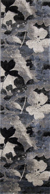 Picture of Breeze Blue Floral 2x8 Rug
