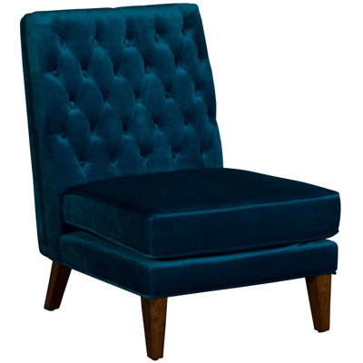 Picture of Brampton Teal Tufted Armless Chair