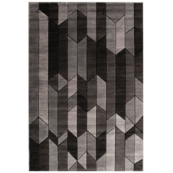 Picture of Alfie Carved Geometrics 5x7 Rug
