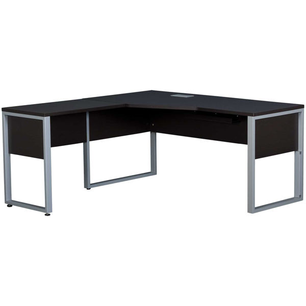 Picture of Fontana Crescent Return Desk, Espresso