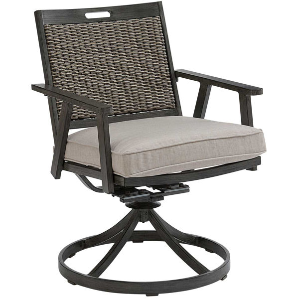 Picture of Addison Swivel Rocker Dining Chair with cushion