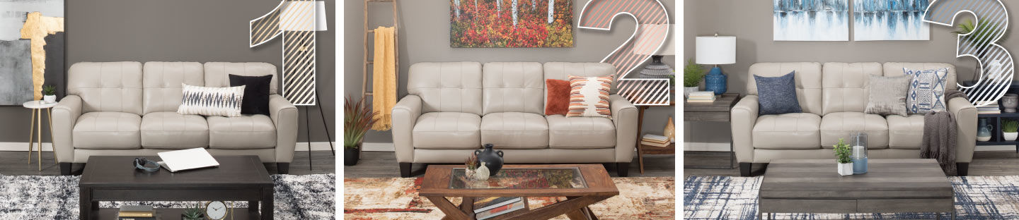 How to Style a Sofa Three Ways