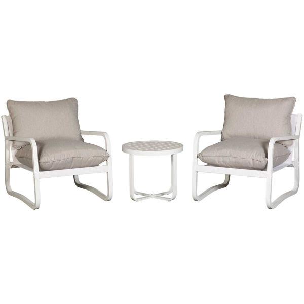 Picture of Flores White 3 Piece Set