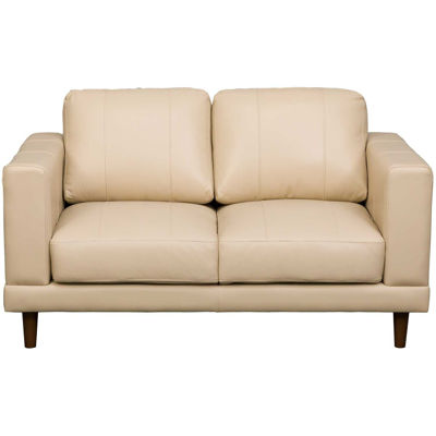 Picture of Hampton Cream Leather Loveseat