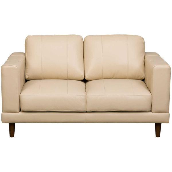 Picture of Hampton Cream Leather Loveseat