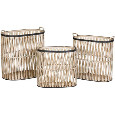 Picture of Set 3 White Baskets