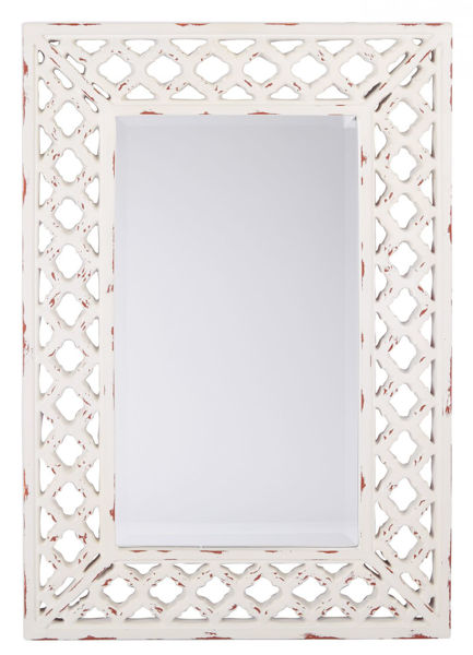 Picture of Vintage White Wall Mirror