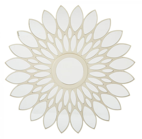 Picture of Matte Gold Floral Pedal Mirror