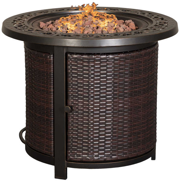"""Picture of Zeal 30"""" Wicker Fire Pit"""