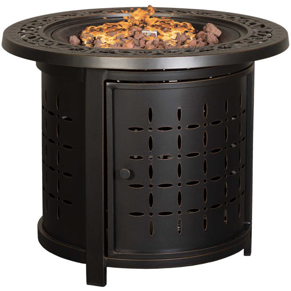 """Picture of Zeal 30"""" Aluminum Fire Pit"""