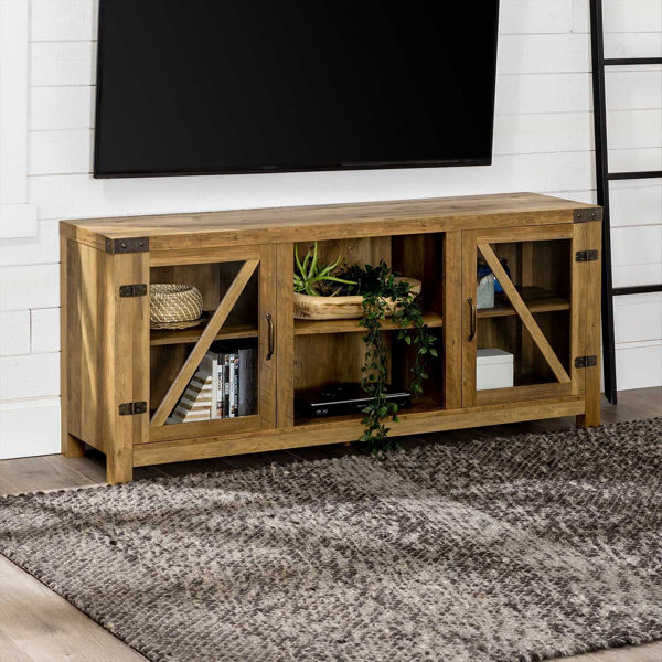Picture of Wellington Dark Wood TV Stand