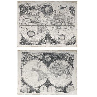 Picture of Set of 2 Antique Map Wall Art