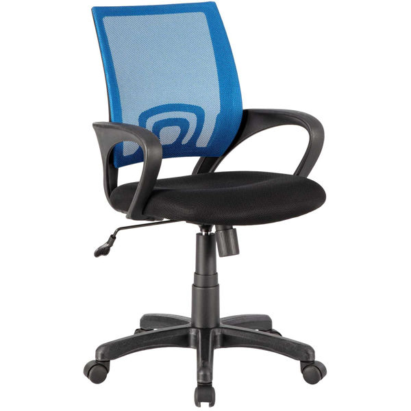 Picture of Blue Mesh/Fabric Office Chair 1121-BL