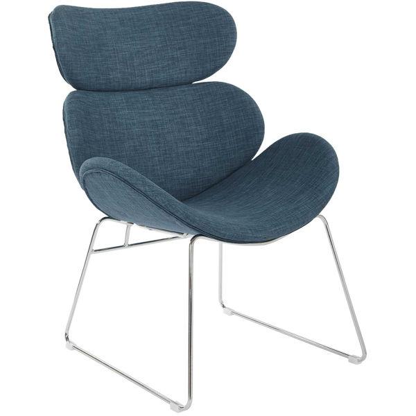 Picture of Jupiter Indigo Modern Accent Chair