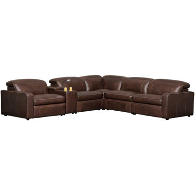 Picture of Drew 6 Piece P2 Recline Leather Sectional