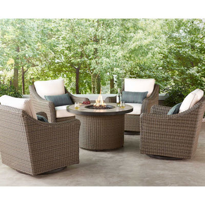 Picture of Oak Grove 5 Piece Fire Pit Chat Set