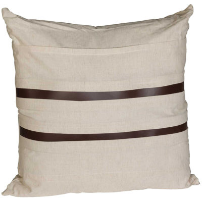 Picture of 20X20 Leather Stripe Stripe Pillow