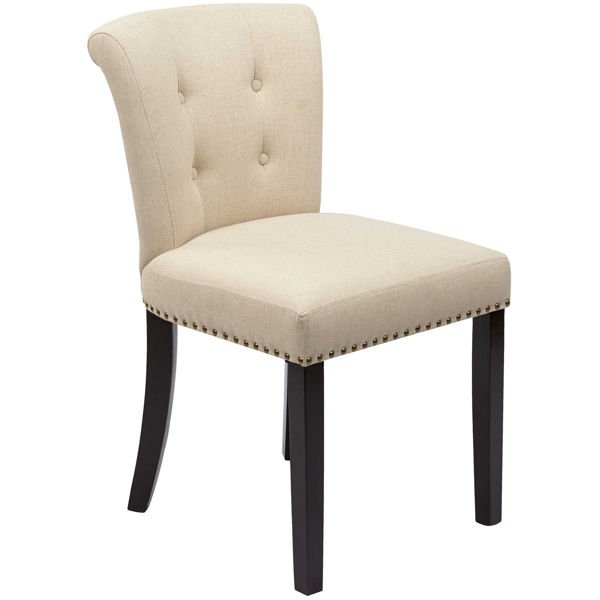 Picture of Kendall Linen Tufted Fabric Chair