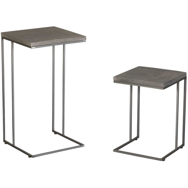 Picture of Grey Vintage Side Table Set of 2