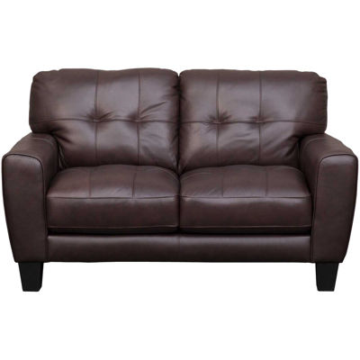 Picture of Aria Brown Leather Loveseat