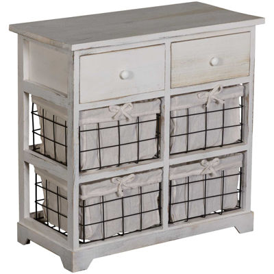 Picture of White Basket Accent Console