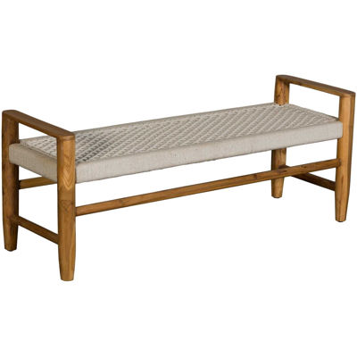 Picture of Tacoma White Jute Bench