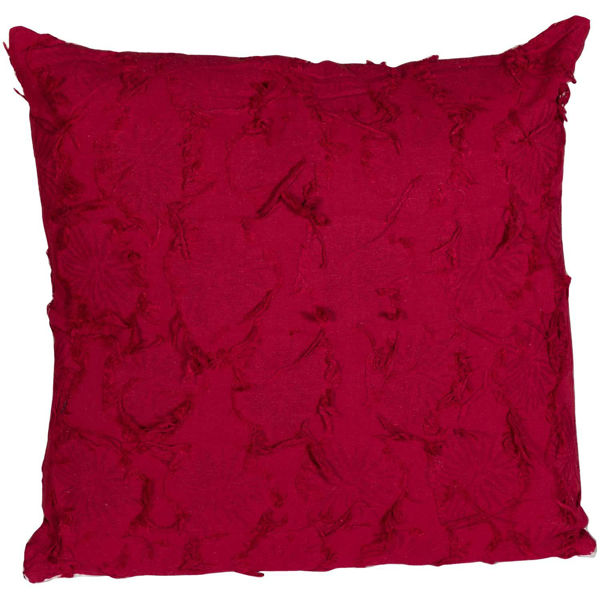Picture of Burgundy Antique Lace 18x18 Pillow *P