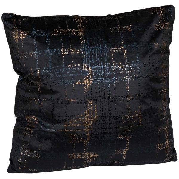 Picture of Black Plaid Magic 18x18 Pillow *P
