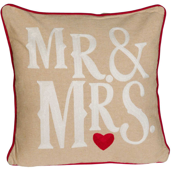 Picture of Mr. & Mrs. 18x18 Pillow *P