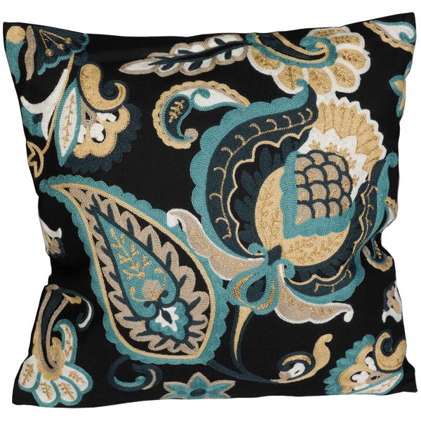 Picture of Navy Paisley 18x18 Pillow *P