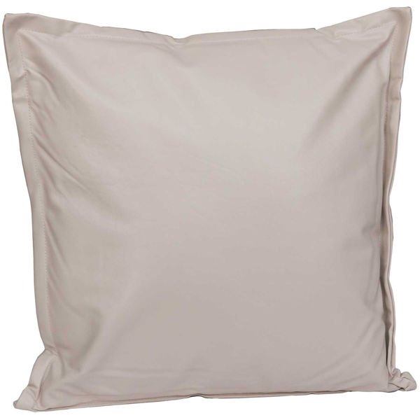 Picture of Beige Faux Leather 18x18 Pillow *P