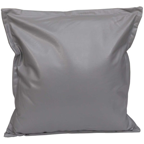 Picture of Gray Faux Leather 18x18 Pillow *P