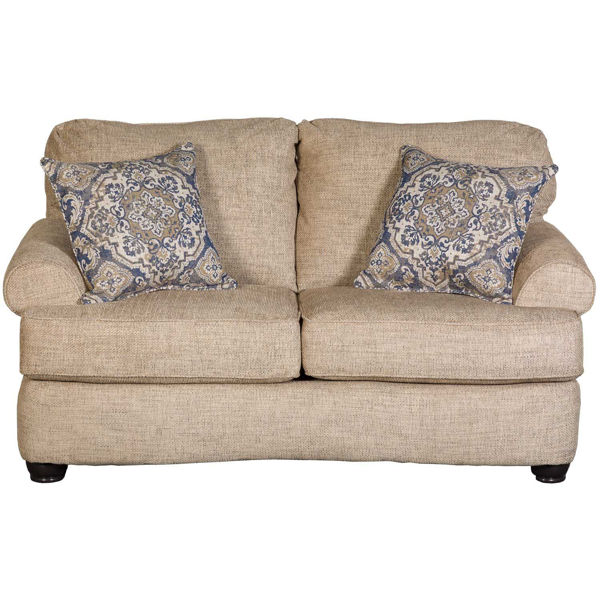 Picture of LOVESEAT- OATMEAL/BLUE
