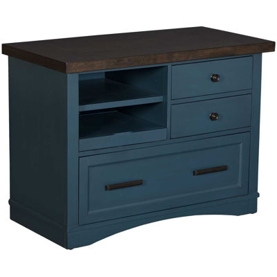 Picture of Americana Modern Blue File Cabinet