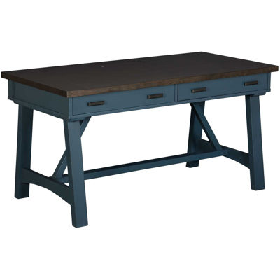 """Picture of Americana Modern 60"""" Blue Writing Desk"""