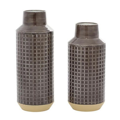 Picture of Set of 2 Metal Vases