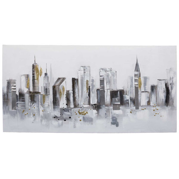 Picture of Street Scene With Metal Accent