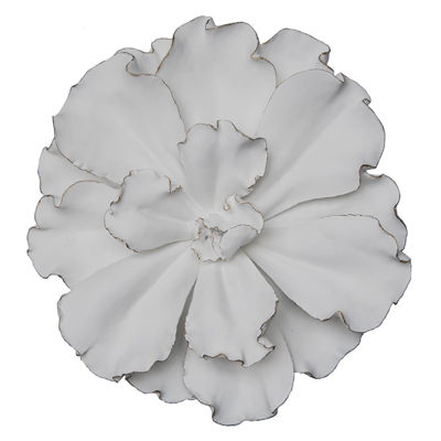 Picture of White Gold Flower Wall Decor