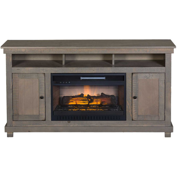 Picture of La Costa Overland Gray 60-Inch Fireplace Console