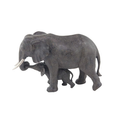 Picture of Mother and Baby Elephant Sculpture
