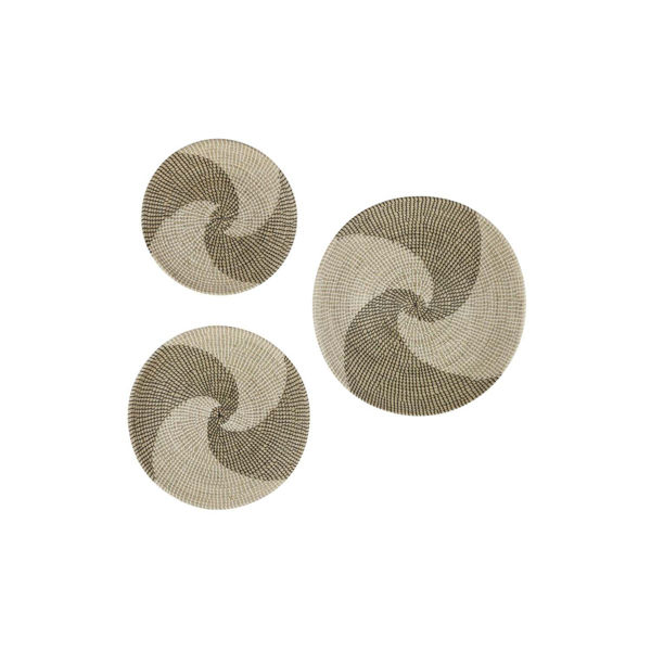 Picture of Set of 3 Seagrass Wall Discs