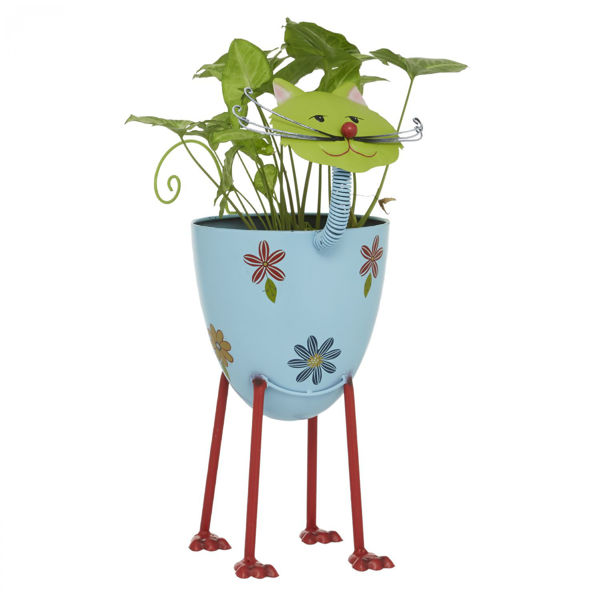 Picture of Metal Cat Planter