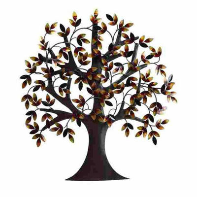 Picture of Metal Tree With Leaves Wall Art