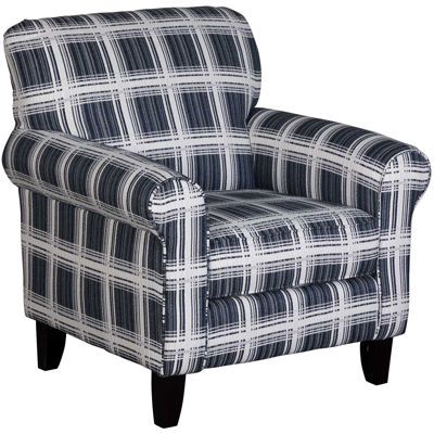 Picture of Penny Navy Plaid Accent Chair