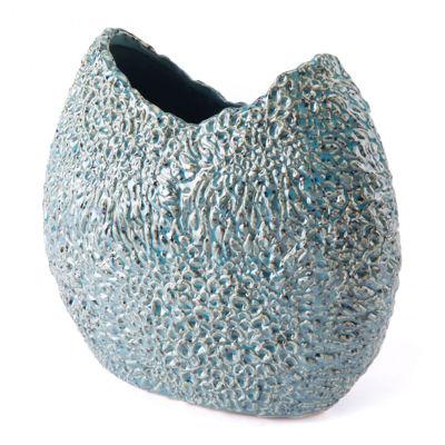 Picture of Crisp Round Vase Blue