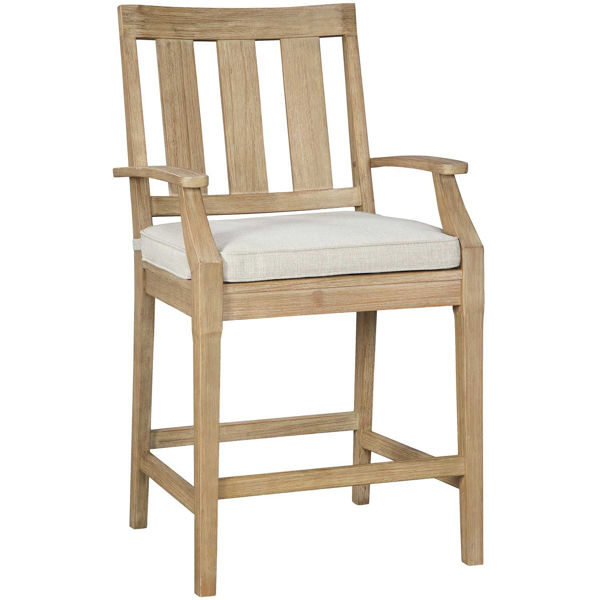"""Picture of ClarView 30"""" Barstool with seat cushion"""